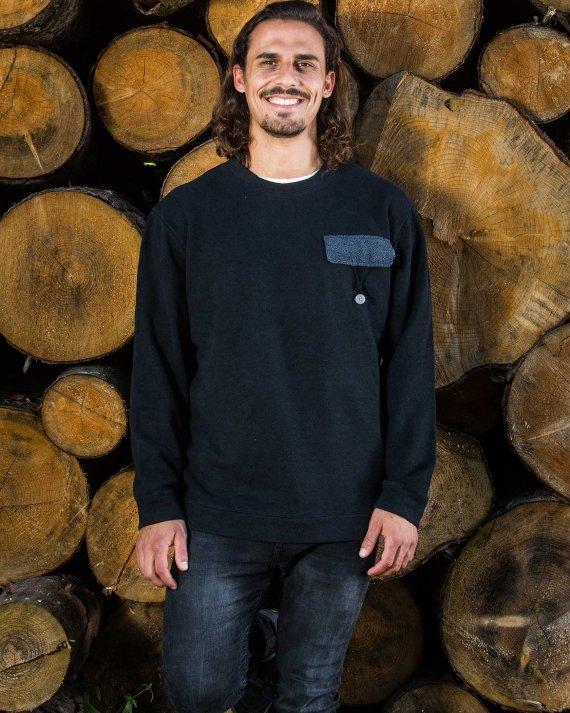 String Pocket Front Fair Wear Foundation Upcycling Mode Nachhaltig Hanf Bio Baumwolle Umwelt Klimawandel T-Shirt Vegan 1% for the Planet