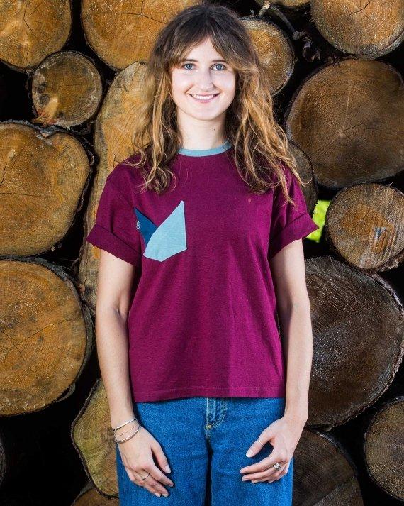 Double Pocket Front Fair Wear Foundation Upcycling Mode Nachhaltig Hanf Bio Baumwolle Umwelt Klimawandel T-Shirt Vegan 1% for the Planet