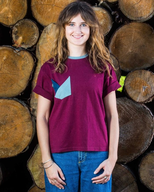 Double Pocket Front Fair Wear Foundation Upcycling Mode Nachhaltig Hanf Bio Baumwolle Umwelt Klimawandel T-Shirt Vegan 1% for the Planet