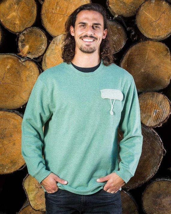 String2 Sweater Fair Wear Foundation Upcycling Mode Nachhaltig Hanf Bio Baumwolle Umwelt Klimawandel T-Shirt Vegan 1% for the Planet